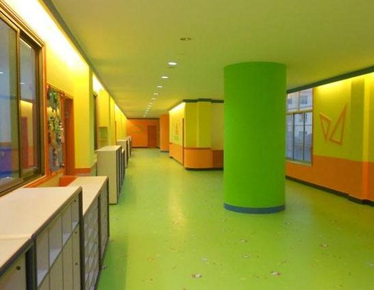 幼儿园pvc塑胶地板安装